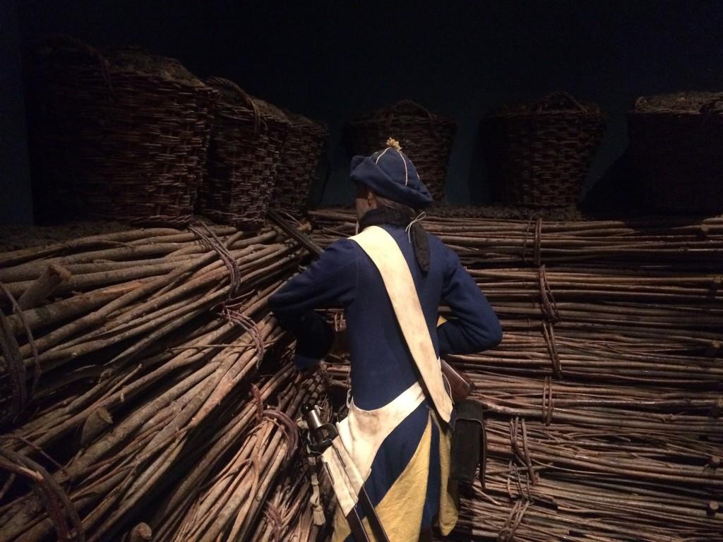 Karolinsk soldat i Armémuseums sine utstillinger. Foto: Aron Erstorp, Armémuseum