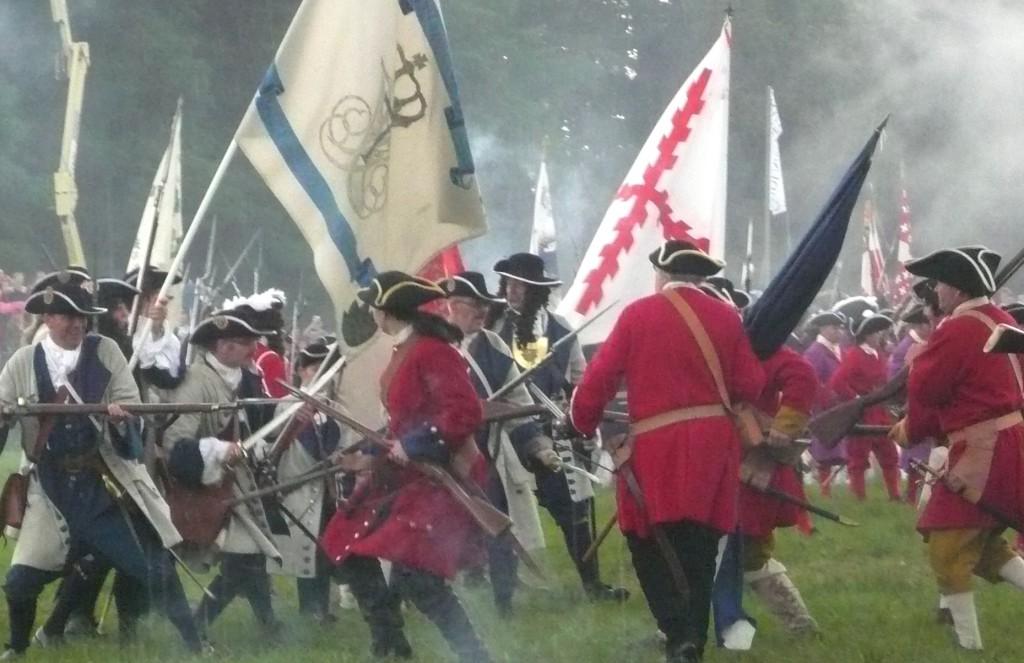 1700-talssoldater i strid. Foto: Jan Vatn