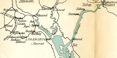 Bakåsen, Gjelleråsen og Bjøråsen skanser