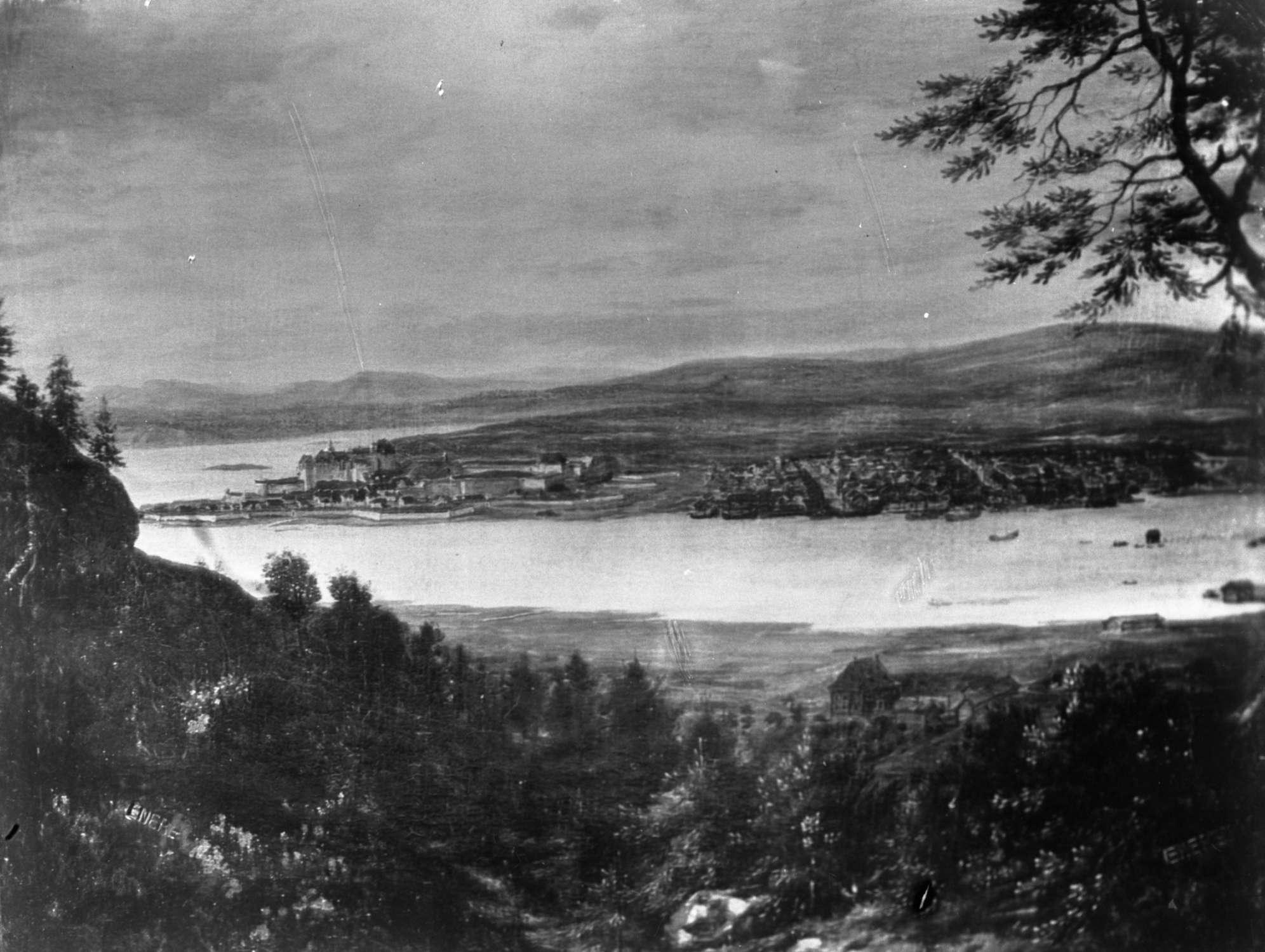 Christiania 1699 sett fra Ekeberg