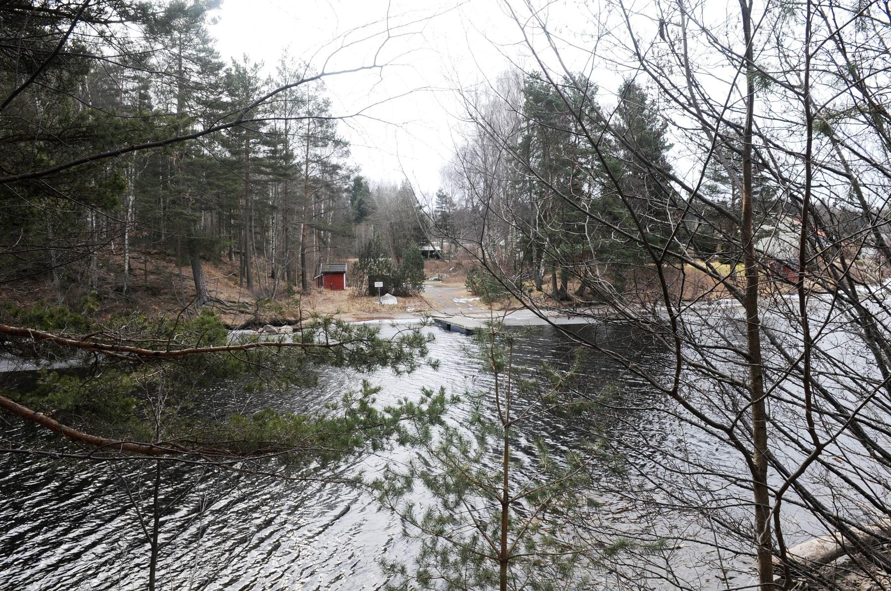 Veden-vadet - det gamle vadestedet over Tista. Foto: Svein Norheim, Østfoldmuseene Halden historiske Samlinger.