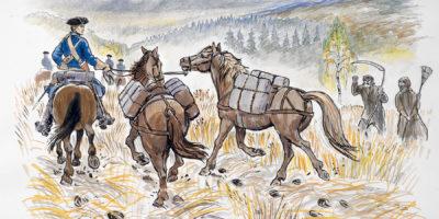 På väg mot Jerpe skans
