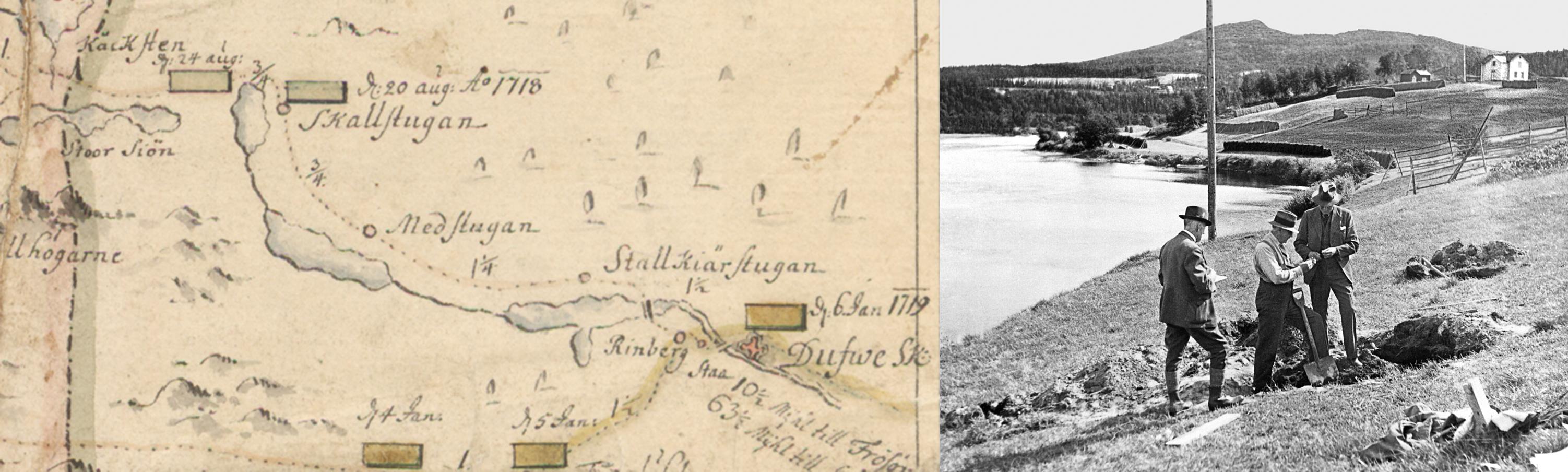 Härens väg förbi Skalstugan, samt utgrävning av massgrav